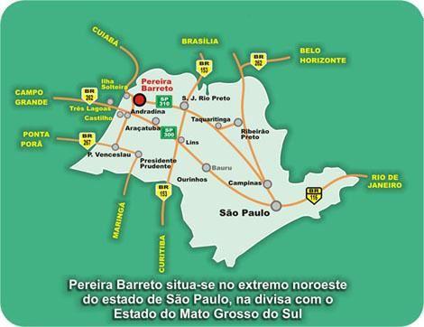 Pereira Barreto São Paulo fonte: pereirabarreto.sp.gov.br