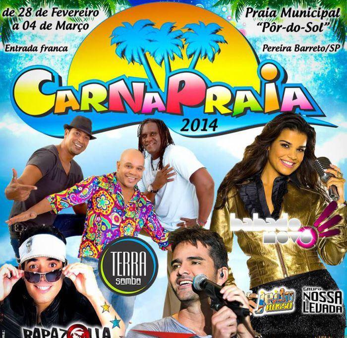 Atrações do Carnapraia 2014