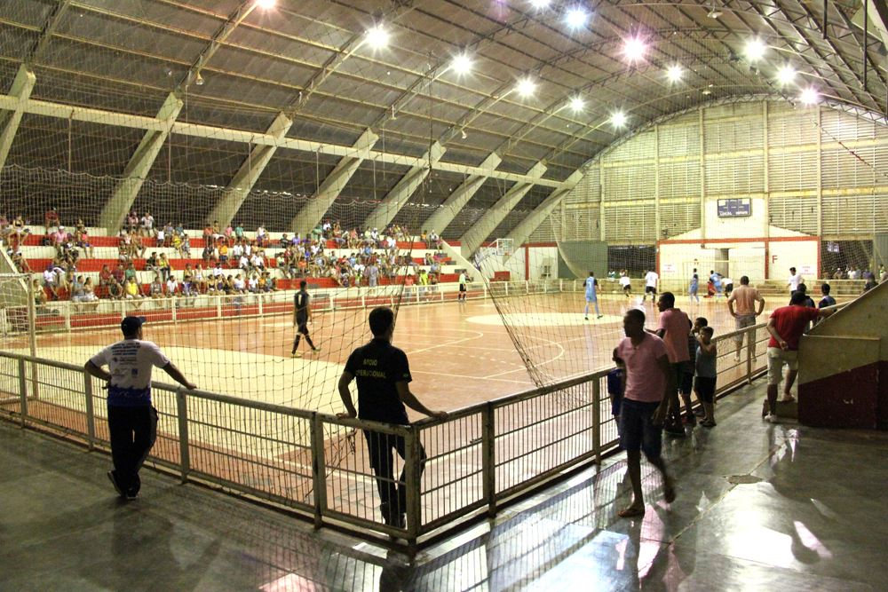 Vista do Ginásio Municipal de Esportes