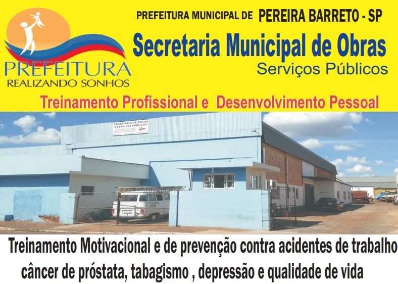 Secretaria Municipal De Obras Realizará Treinamento